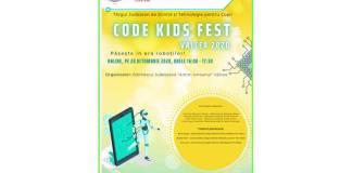 Afiș CODE KIDS FEST 2020 Valcea