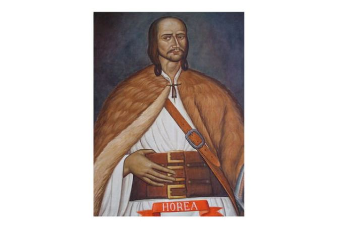 Horea (Vasile Ursu Nicola), imagine pictată in biserica din comuna Horea, Alba