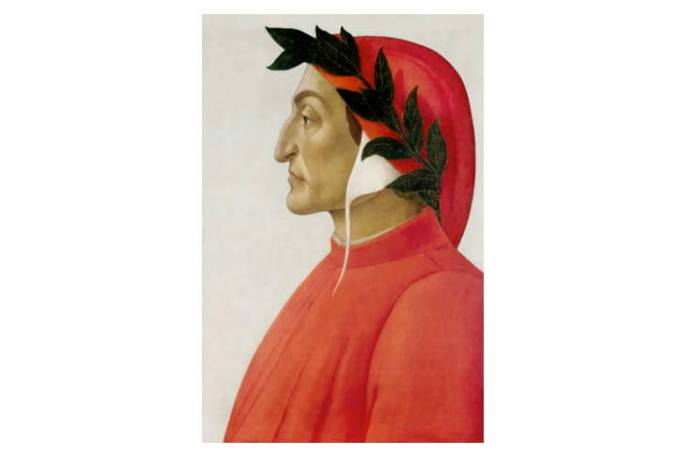 Dante, portret de Sandro Botticelli, tempera, 1495