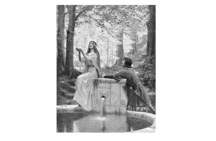 """Edmund Blair Leighton, """"Pelléas și Mélisande"""""""