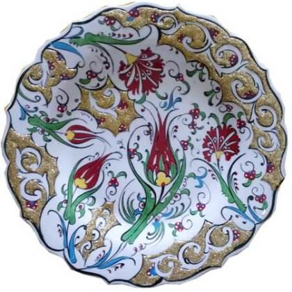 Farfurie ornamentală de Kutahya. Sursa foto: oguzcinikutahya.com