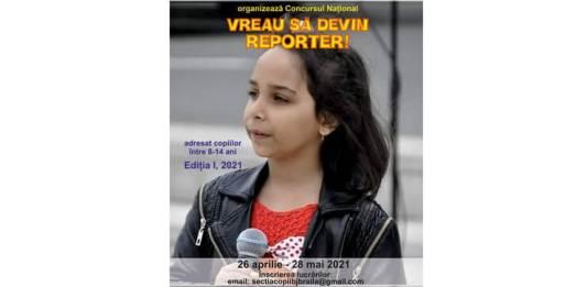concursul vreau sa devin reporter braila