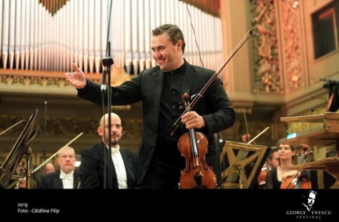 """Maxim Vengerov și Orchestra din Monte Carlo, Festivalul """"Enescu"""" 2019, Ateneul Român. Foto Cătălina Filip"""
