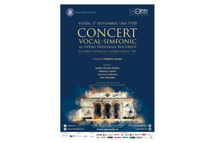 Afis Concert vocal simfonic in cadrul Festivalului Enescu - ONB