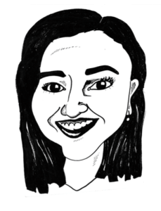 Sketch of Amanda Botfeld, editor 2014-2015