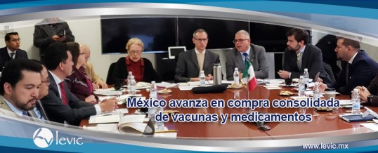 México avanza en compra consolidada de vacunas y medicamentos