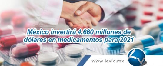 México invertirá 4.660 millones de dólares en medicamentos para 2021