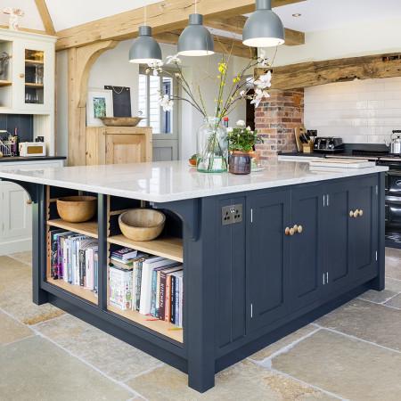 Open Plan Kitchen With Large Island Levick Jorgensen Kitchens