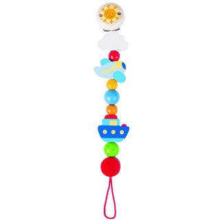 Wooden Vehicles Soother Chain by Heimess (735960) | LeVida Baby