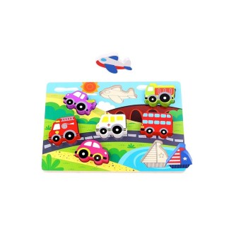 Tooky Toys Wooden Transport Chunky Puzzle - LeVidaBaby