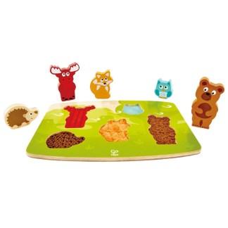 Hape Forest Animals Tactile Puzzle | LeVida Toys