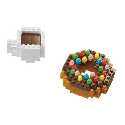 nanoblock Mini Collection Donut & Coffee (NBC-246)   LeVida Toys