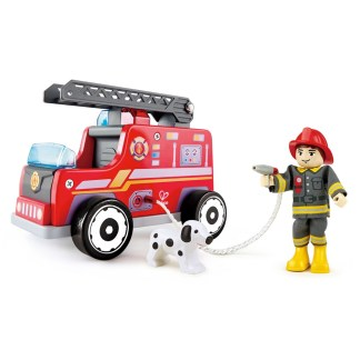 Hape Fire Truck with firefighter (E3024)   LeVida Toys