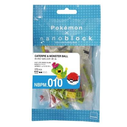 Pokemon Caterpie & Pokeball (Nanoblock NBPM-010)   LeVida Toys