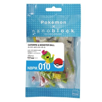 Pokemon Caterpie & Pokeball (Nanoblock NBPM-010) | LeVida Toys