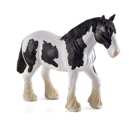 Clydesdale Horse Black and White (Animal Planet 387085) | LeVida Toys