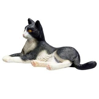 Cat Lying Black and White (Animal Planet 387367) | LeVida Toys