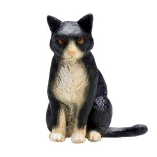 Cat Sitting Black and White (Animal Planet 387371) | LeVida Toys