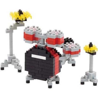 Drum Set Red (Nanoblock NBC-123) | LeVida Toys