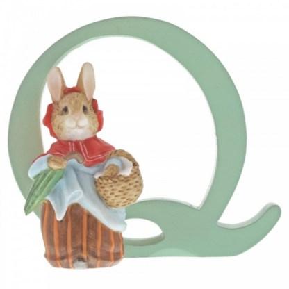 """Q"" Mrs Rabbit - Peter Rabbit Letter   LeVida Toys"