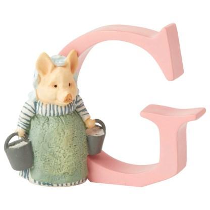 """G"" Aunt Petitoes - Peter Rabbit Letter   LeVida Toys"