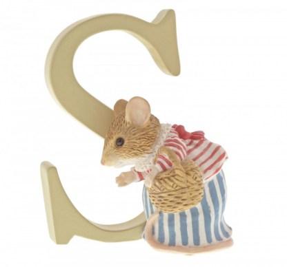 """""""S"""" Mrs Tittlemouse - Peter Rabbit Letter   LeVida Toys"""