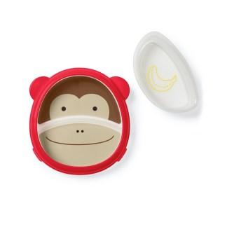 Skip Hop - Zoo Smart Serve Plate & Bowl: Marshall Monkey | LeVida Toys