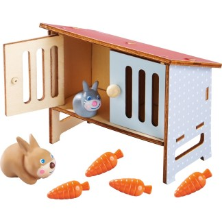 Haba Little Friends - Rabbit Mimi and Rabbit Hutch | LeVida Toys