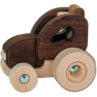 Goki Nature Tractor - Natural Wooden Toy (55911)   LeVida Toys