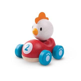 Plan Toys Chicken Racer push along wooden car | LeVida Toys