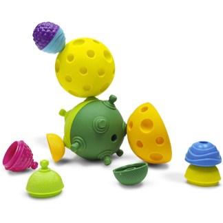 Lalaboom 2 Sensory Balls & Educational Beads (12 Pieces) | LeVida Toys