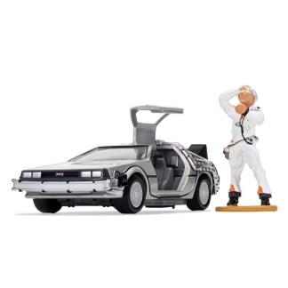 Corgi Back to the Future DeLorean and Doc Brown Figure | LeVida Toys