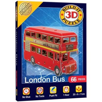 London Bus Build-It 3D Puzzle   LeVida Toys