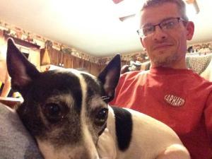 Oscar on my lap