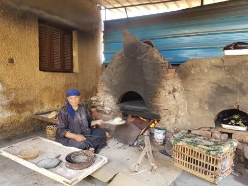 Il forno per fare il pane tradizionale