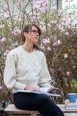 Vacker vårblomning i trädgården hos Ulrika Levin.