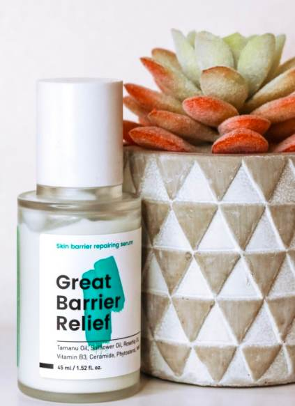 KraveBeauty Great Barrier Relief is a soothing serum that nourishes