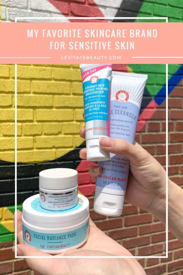 First Aid Beauty is my favorite clean skincare brand for sensitive skin. They're fragrance-free and free of sulfates and alcohol.