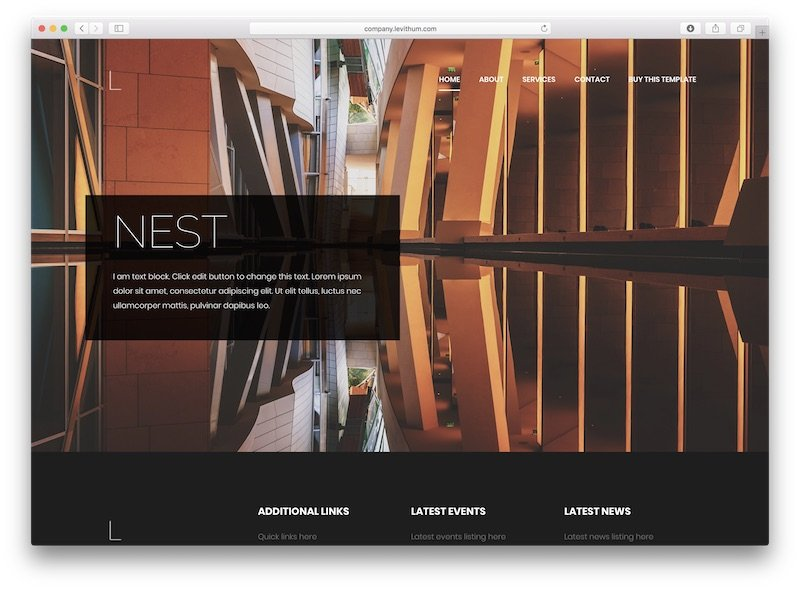 corporate wordpress template