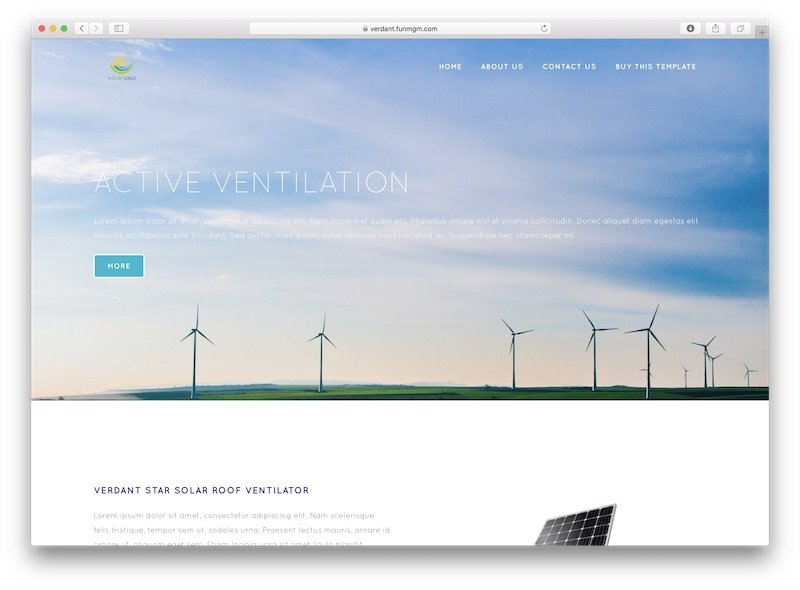 Solar Power Wordpress Template