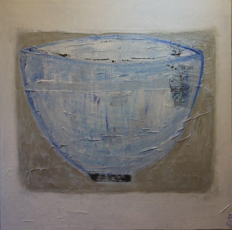 Blauwe Schaal 80x80