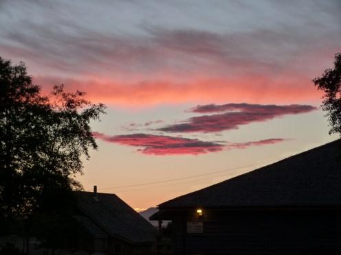 Ciel au soleil couchant