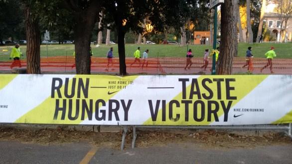 Lo slogan della corsa