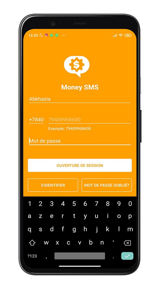 Créer un compte Money SMS