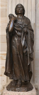 Sakakawea Statue in The National Statuary Hall, United States Capitol