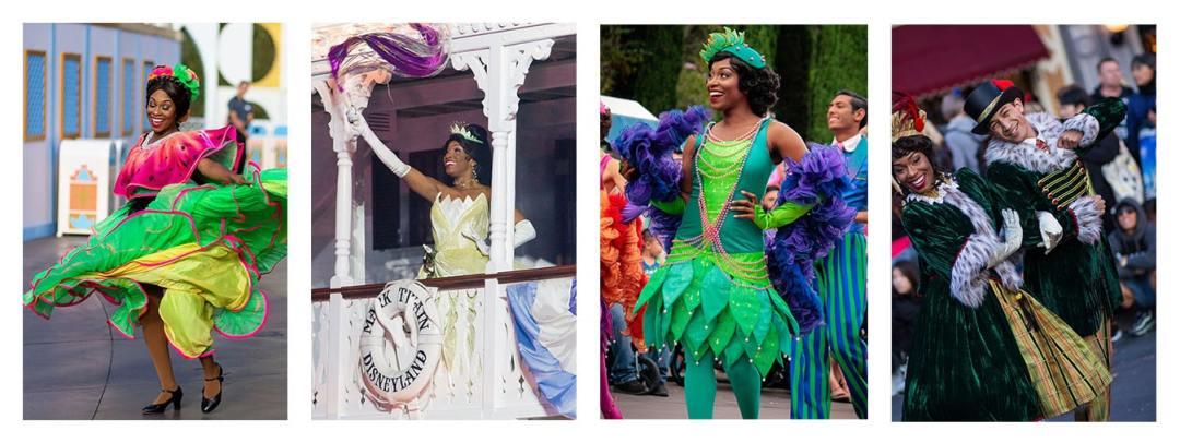 Kimberlee Benton in different colorful dresses