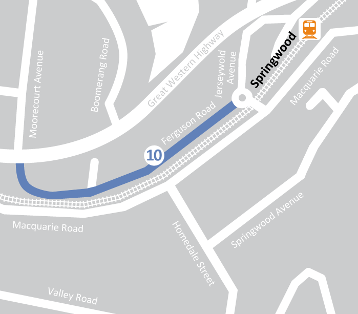 Map showing location of Lewis Financial in Springwood