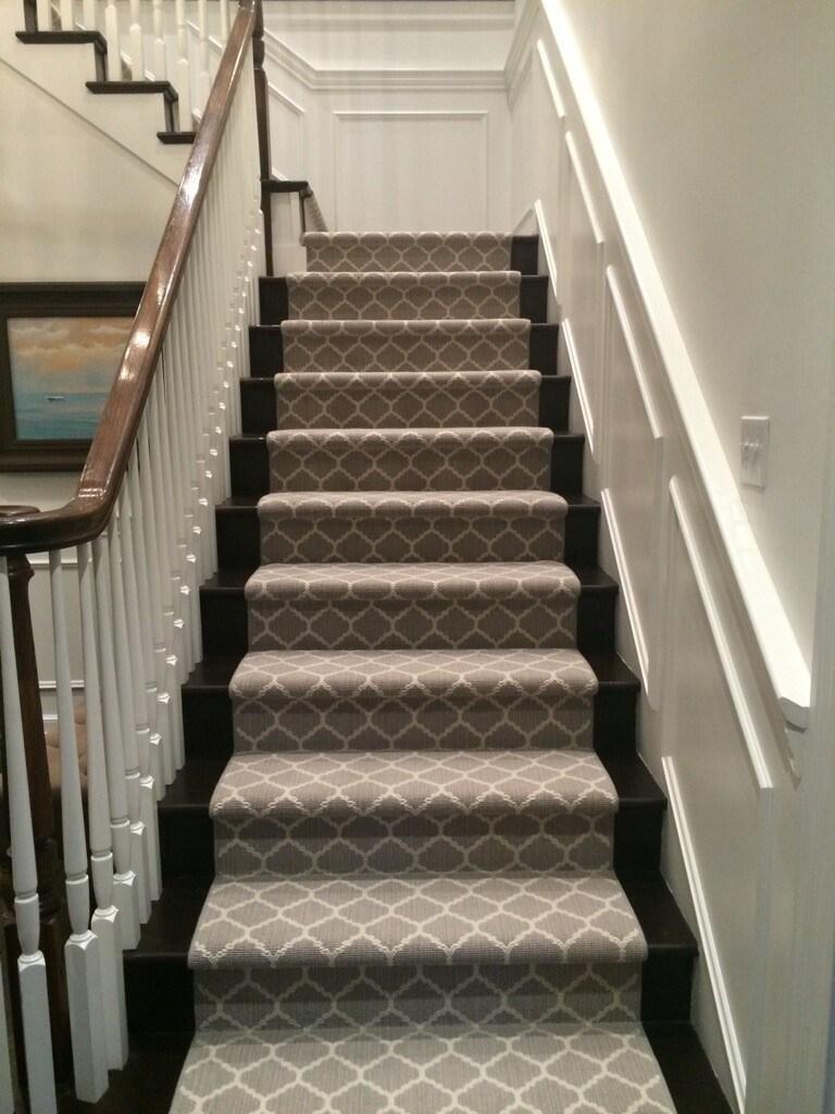 Stair Carpet Gain Inspiration And View Stair Carpet Projects | Stair Carpet With Border | Stairway | Design | Stair Runner Matching Landing | Runner | Cream