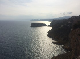 The view from the cliffs at Denia. Simply delightful.
