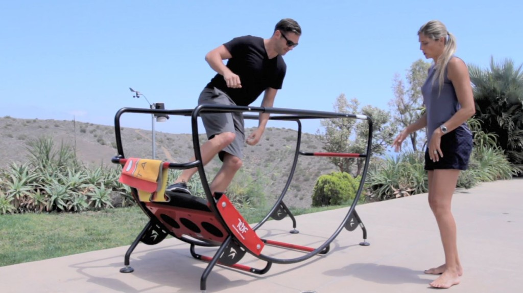 Lewis Howes on the total wave machine with Gabby Reece